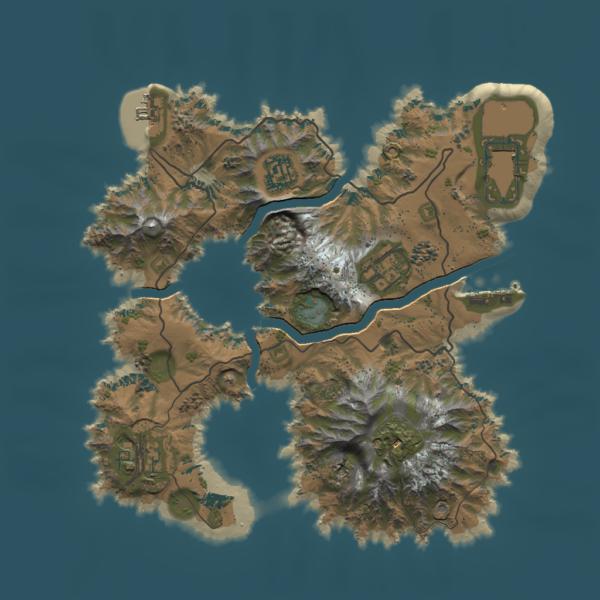 Devils Islands Map